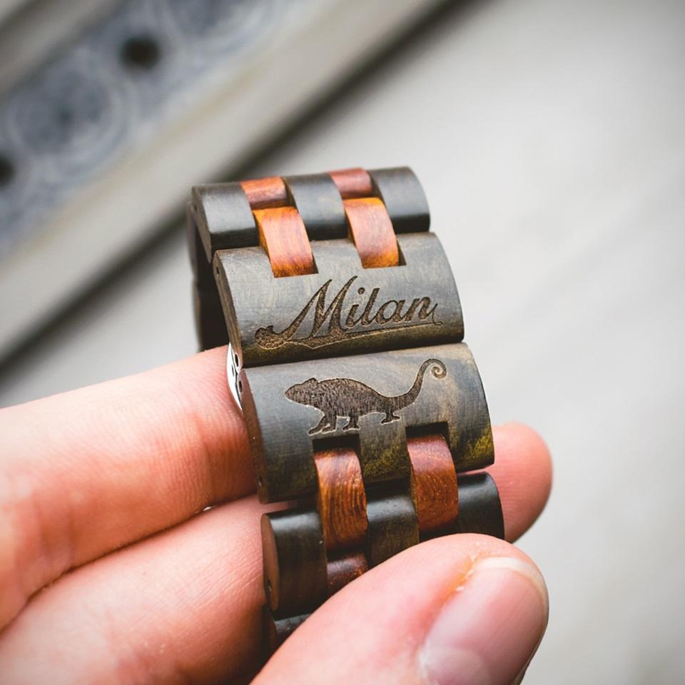 Chilli dřevěné hodinky s gravírováním