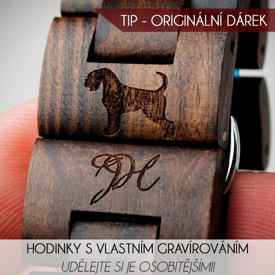 Brownies dřevěné hodinky s vlastním gravírováním