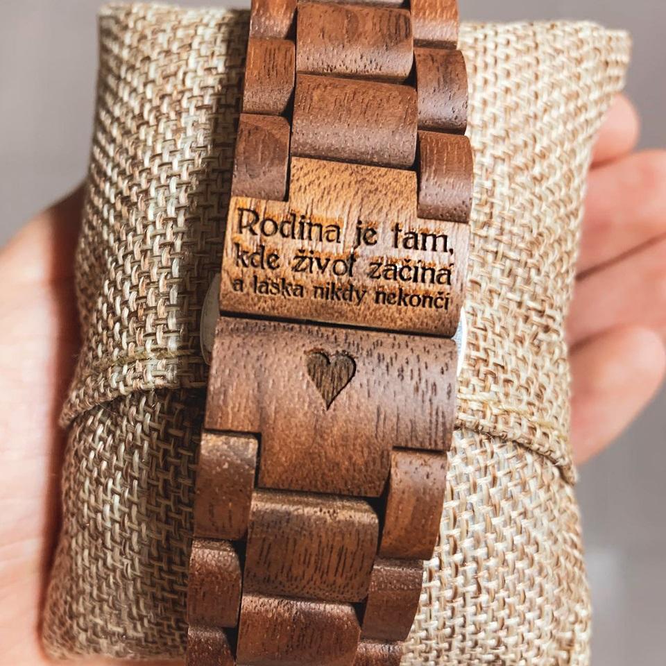 Honey Chrono dřevěné hodinky s vlastním gravírováním
